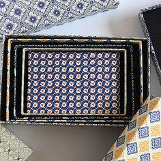 "CARTA PURA ""5 Boxes Set"" geometric pattern"