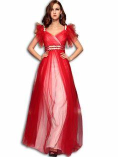 VILAVI Women's A-line Tulle V-neck Long Prom Dresses 14W Red vilavi,http://www.amazon.com/dp/B00ITHKX1C/ref=cm_sw_r_pi_dp_G4Cotb1YHN687BC4