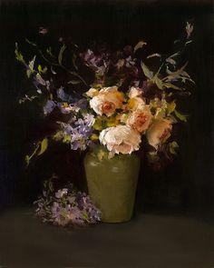 Roses III by Kay Eneim Oil ~ 20 x 16
