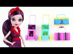 How to make a briefcase, a wheeled bag and a radio for your doll - Easy Doll Crafts - YouTube