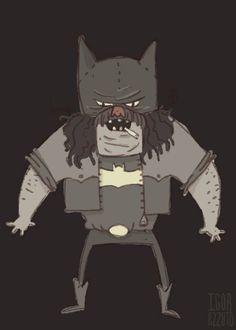 #batman #hillbilly #illustration #cartoon #design #personagem