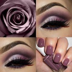 Plum rose smoky eye for Romantic Look