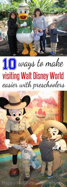 10 Ways to Make Visiting Walt Disney World easier with preschoolers and free stroller tags from HappyandBlessedHome.com