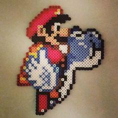 Super Mario perler beads by thomasc0423