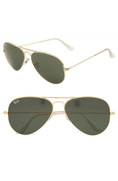 Ray-Ban classic aviator sunglasses. I want these. They are cute and because you just feel cool wearing aviators.