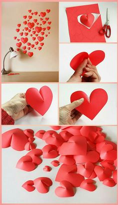 Incredible DIYs for Valentine's Day Craft … – Valentinstag Heart Decorations, Valentines Day Decorations, Valentine Day Crafts, Holiday Crafts, Diy Crafts For Birthday, Valentines Ideas For Her, Paper Decorations, Origami Diy, Saint Valentin Diy