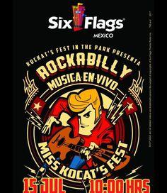 Rockabilly en Six Flags.  Publicista Asociado
