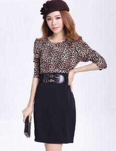 Love it! Leopard Printed Slim-Fit Dress