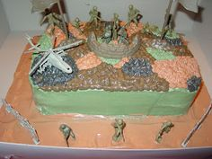 Slightly Less Than Perfect: Army Men Cake