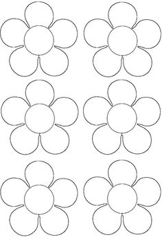 Primavera - New Sites Felt Flower Template, Balloon Template, Leaf Template, Crown Template, Felt Flowers, Diy Flowers, Paper Flowers, Paper Butterflies, Diy And Crafts
