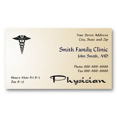 Business Card Template For Doctors | 68 Best Physician Surgeon Medical Doctor Business Cards Images On
