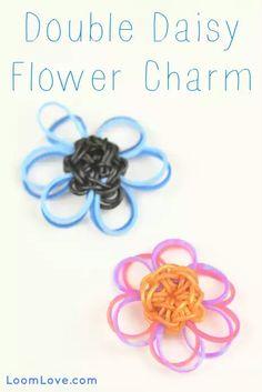 Double Daisy Flower Charm