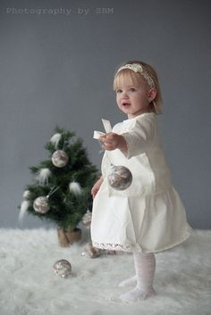 Girl linen costume - Girl  dress, jacket, headband, tote bag  - Flower girl ivory costume, set. $69.99, via Etsy.