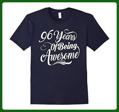 Mens 96th Birthday Gifts - 96 Years Of Being Awesome T-shirt 3XL Navy - Birthday shirts (*Amazon Partner-Link)
