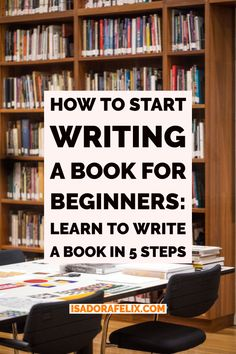 How to Start WRITING A BOOK for BEGINNERS: Learn to Write a Book in 5 Steps Learn how to write a book how to start writing a book for beginners how to finish writing a story and more. Writing Images, Book Writing Tips, Writing Lessons, Writing Quotes, Fiction Writing, Writing Resources, Start Writing, Writing Skills, Writing Humor