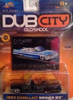Jada, Dub City, Old Skool, 1962 Cadillac, 1:64 diecast 1960 Chevy Impala, Jada Toys, Small Cars, Old Skool, Cadillac, Hot Wheels, Diecast, City, Vehicles
