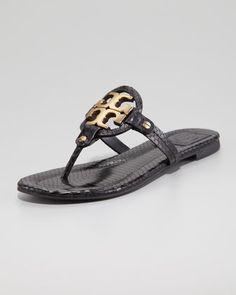 82433991d968 Miller2 Snake-Print Thong Sandal