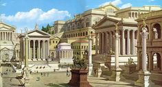 Artist's reconstruction of the Forum Romanum