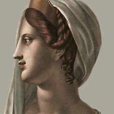 Portraits à l'antique - Calanthe couleur - L180xH227 - ultra mat - 2 lés de 90cm