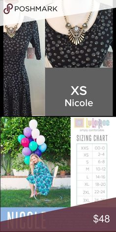 LULAROE Nicole Size XS NWT We have tons more to list. helping a friend liquidate her inventory. So let us know what your looking for and we will see what we have in your size. She is open to offers as well. LuLaRoe Dresses