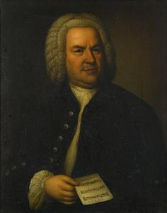 ATTRIBUTED TO ELIAS GOTTLOB HAUSSMANN (German 1695-1774) JOHANN SEBASTIAN BACH Oil on canvas 31 7/8 x 25 1/4 in. (81 x 64.1cm) #FreemansAuction