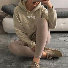Hot Yeezus Printed Bat Sleeve Sweatshirt