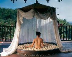 Spa Floral Bath, Anantara Golden Triangle, Chiang Saen, Chiang Rai, Thailand.