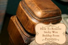 Wood furniture can be ruined by sticky wax buildup. Here's how to remove wax buildup from furniture naturally without harming the wood. Plus, DIY polish.