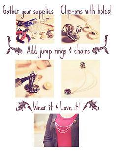 Cardigan Clip Tutorial #fashion #cardigan #diy #crafts #earrings #chains