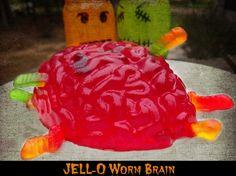 JELL-O Brain! 4 Easy Halloween Snack Ideas
