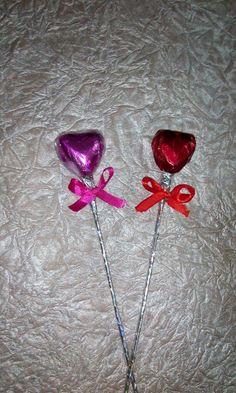 Valentine chocolate love sticks