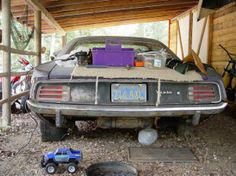 'Cuda At least there's carpet on it to protect it!
