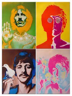 The Beatles, 1967, by photographer Richard Avedon, based on his B portraits. Originally produced for Stern and Look magazines. This is a poster set