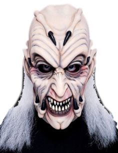 the jeepers creepers latex halloween mask includes a full over the head latex mask featuring claws scary teeth and long stringy