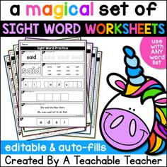 Fry Words, Fry Sight Words, Sight Words List, Dolch Sight Words, Sight Words Printables, Sight Word Worksheets, Sight Word Activities, Name Practice, Sight Word Practice