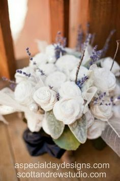 Sola wood wedding bouquet by A Special Day Designs, Shingle Springs, CA