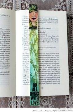 From paint stick to bookmark. Herman's Place