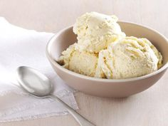 Vanilla Ice Cream with Honey: Use vanilla beans, split lengthwise and scraped, to get the best flavor from Ted Allen's homemade ice cream. Top it with fresh berries for patriotic red, white and blue flair.