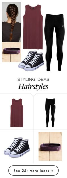 """""""Untitled #392"""" by brunnette24189 on Polyvore featuring Monki, adidas Originals and lululemon"""