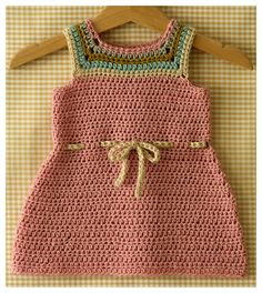 Posie: Rosy Little Things — Mina Baby and Toddler Dress Crochet Pattern Crochet Girls, Crochet Baby Clothes, Crochet For Kids, Knit Crochet, Toddler Dress, Baby Dress, Baby Knitting Patterns, Crochet Patterns, Baby Sweaters