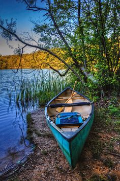Springtime Canoe Canvas Print / Canvas Art by Debra and Dave Vanderlaan Canoe Camping, Canoe And Kayak, South Carolina, Blue Canoe, Waterfall Trail, Kayaking, Canoeing, Yacht Builders, Beautiful Nature Pictures