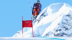Aksel Lund Svindal of Norway competes in the third men's downhill training at the Sochi Winter Olympics.