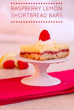 Raspberry Lemon Shortbread Bars