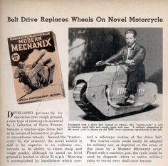 1930年代に発明されたキャタピラバイク