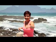 """Linda Kriel doing morning exercises on Bloubergstrand near Cape Town for the breakfast show """"Good Morning South Africa"""" circa High Intensity Interval Training, Muffin Top, Kickboxing, Pilates, Morning Exercises, Health Fitness, Gym, Saddle Bags, Youtube"""
