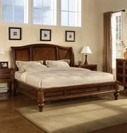 Max Furniture Shara Sleigh Bed by Wynwood Shara is a casual interpretation of early 19th century English design with convex case fronts and classic detailing. This collection features Hazelnut and Cabernet finishes on cherry veneers that compliment the style and antique brass finished hardware. http://www.maxfurniture.com/detail---Shara-Sleigh-Bed-by-Wynwood-0-37644.aspx