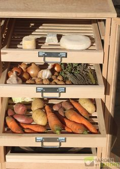 Kitchen storage for fruits and vegetables