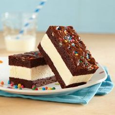Brownie Ice Cream Sandwiches Printable Recipe