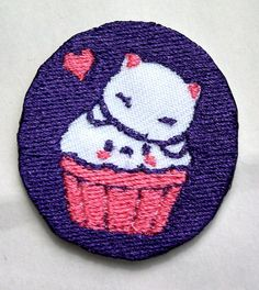 Super Cute Kawaii Kitten and Cupcake patch iron on by DawnOctopus, $1.88