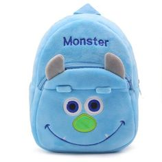 Japanese Cartoo Cute Monkey Children Boys And Girls Plush Schoolbag Children Gift Backpacks Cute Fashion Personality Anti-lost Large Assortment School Bags